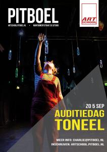 auditiedag Toneel van Pitboel Art School. Zondag 5 september 2021.